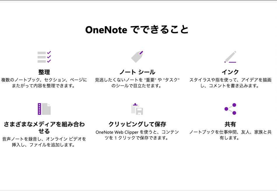 Microsoft OneNote公式サイトによる紹介-3